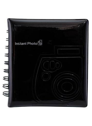 Fujifilm instax mini Film Uyumlu Siyah 64'lü Kare Albüm Renkli